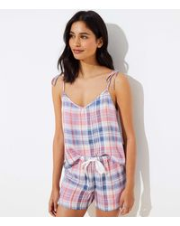 LOFT Plaid Pajama Cami - Multicolor