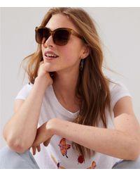 LOFT - Iridescent Square Sunglasses - Lyst
