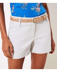 LOFT Petite Riviera Shorts With 3 1/2 Inch Inseam - Grey