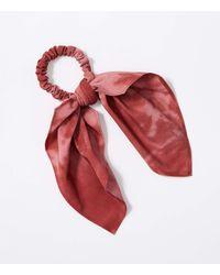 LOFT Tie Dye Hair Tie - Red