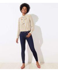 LOFT Tall Skinny Jeans In Dark Rinse Wash - Blue