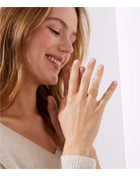 LOFT - Crystal Filigree Ring - Lyst
