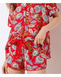 LOFT - Summer Blossom Pyjama Shorts - Lyst