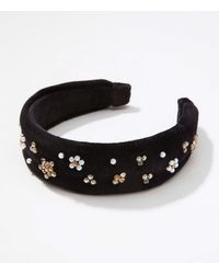 LOFT Embellished Headband - Black