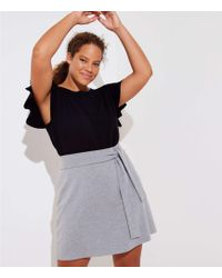 LOFT - Plus Tie Waist Knit Pencil Skirt - Lyst