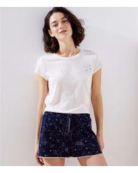 LOFT - Star Pajama Shorts - Lyst