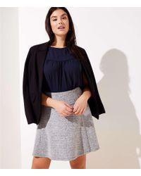 LOFT - Plus Pull On Flippy Skirt - Lyst