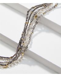 LOFT - Gilded Multistrand Beaded Necklace - Lyst