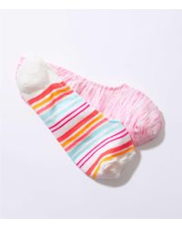 LOFT - Stripe & Spacedye No Show Sock Set - Lyst