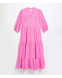 LOFT Lou & Gray Tiered Pocket Maxi Dress - Pink