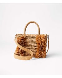 LOFT Fringe Straw Crossbody Bag - Multicolor