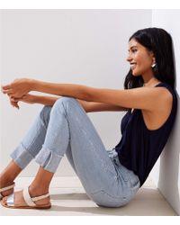 LOFT - Modern Cargo Pocket Skinny Jeans In Railroad Blue - Lyst
