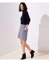 LOFT - Tile Jacquard Shift Skirt - Lyst