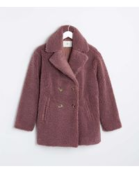 LOFT Lou & Grey Cosy Up Teddy Coat - Purple
