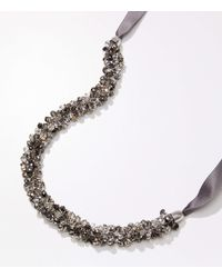 LOFT Bauble Ribbon Necklace - Metallic