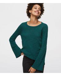 LOFT - Flare Sleeve Sweater - Lyst