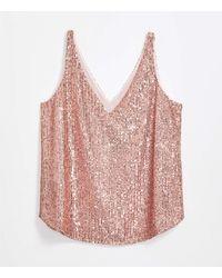 LOFT Sequin Shell - Pink
