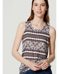 loft mixed media top. loft | petite mosaic sweater tank lyst loft mixed media top s