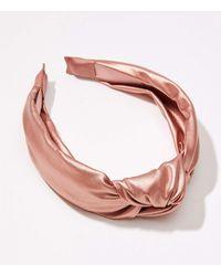 LOFT Shimmer Top Knot Headband - Pink