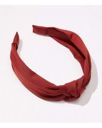 LOFT Top Knot Headband - Red