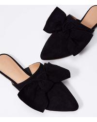LOFT Bow Mule Slides - Black