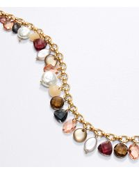 LOFT Charm Statement Necklace - Metallic