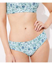 LOFT Beach Vine Hipster Bikini Bottom - Blue