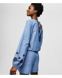 d649ad0a6679 Lyst - Free People Shapeless Chambray One Piece in Blue