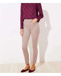 LOFT High Waist Corduroy Skinny Trousers - Multicolour