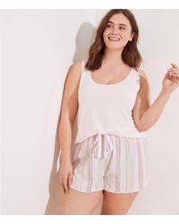 LOFT - Plus Mixed Stripe Tank Pajama Set - Lyst