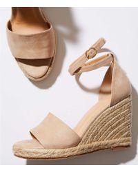 LOFT - Strappy Espadrille Wedge Sandals - Lyst