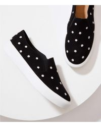 LOFT - Embroidered Daisy Slip On Sneakers - Lyst