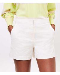 LOFT Structured Shorts - White