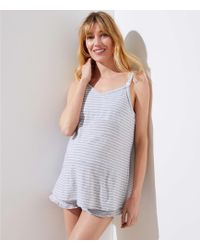 LOFT - Maternity Striped Cami Pajama Set - Lyst