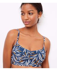 LOFT Beach Palm Cinched Bikini Top - Blue