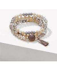 LOFT - Pearlized Stretch Bracelet - Lyst