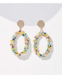 LOFT Beaded Hoop Earrings - Multicolor