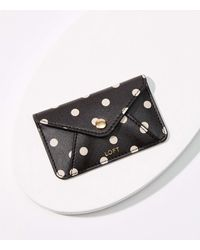 LOFT Polka Dot Tech Card Case - Black