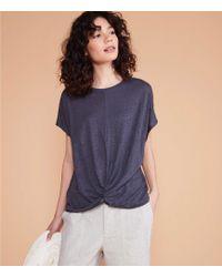 LOFT Lou & Grey Softserve Linen Twist Front Top - Multicolour