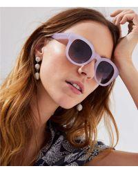 LOFT - Iridescent Round Sunglasses - Lyst
