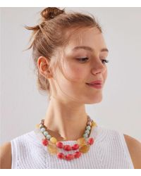 LOFT - Beaded Double Strand Necklace - Lyst