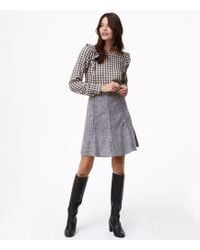 LOFT | Flecked Seamed Flippy Skirt | Lyst