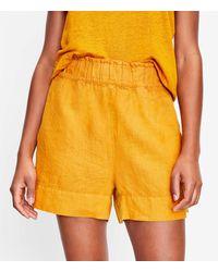 LOFT Lou & Grey Linen Pull On Shorts - Yellow
