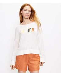 LOFT Summer Sweater - White