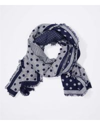 LOFT - Dotted Cosy Reversible Scarf - Lyst