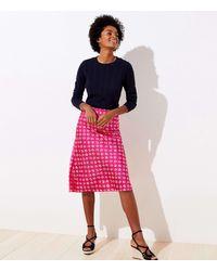 LOFT Bloom Midi Skirt - Pink