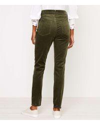LOFT Skinny Corduroy Pants - Green