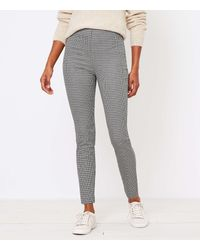 LOFT The Tall Side Zip Skinny Pant In Check - Multicolour