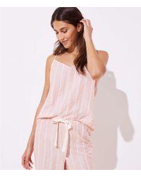 LOFT - Striped Pajama Cami - Lyst