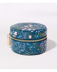 LOFT Floral Jewellery Case - Blue